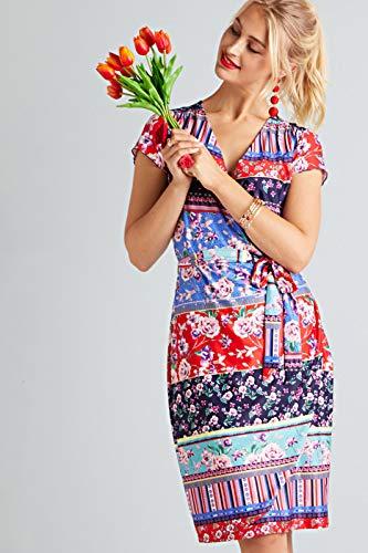 (YUMI. Multi Patchwork Stripe Jersey Dress)