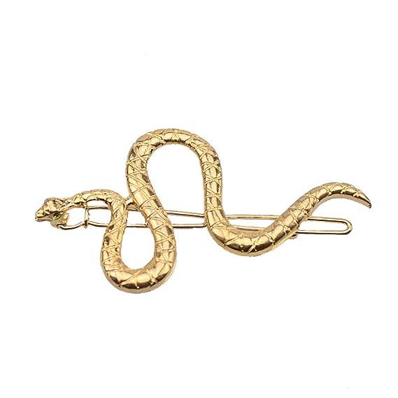 Women Hair Clip Crystal Snake Shape Hairpin Hairband Slide Bobby Pin Barrette