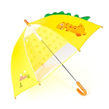 53bb0382b0 Spring Color Adorable and Durable Kids Umbrella – Children's Rainy Day  Umbrella (Yellow Dinosaur)