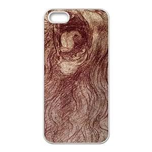 iPhone 5 5s Cell Phone Case White da Vinci Sketch of a roaring lion TR2461842