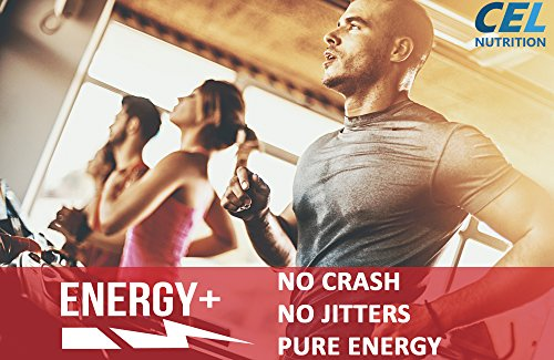 Energy Plus: Caffeine Pills 150mg & L Theanine 200mg | Pure Focus & Energy Formula for Improving Concentration, Attention, Mood, and Cognition | All Natural Nootropic Tablets | 60 Capsules & Servings