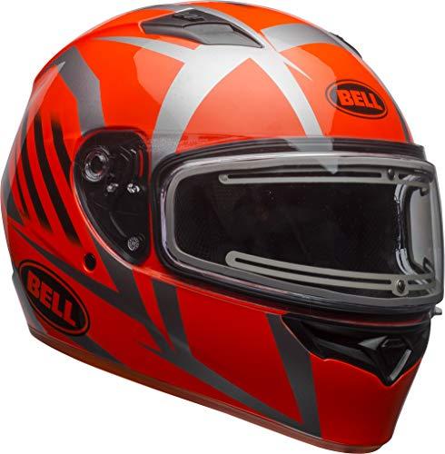 Bell Qualifier Electric Shield Snow Helmet (Blaze Gloss Titanium/Orange, Large)