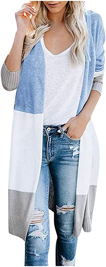 Lmx+3f Womens Slim Open Front Cardigan Long Sleeve Blazer Casual Jacket Coat Solid Color Soft Comfy Small Suit