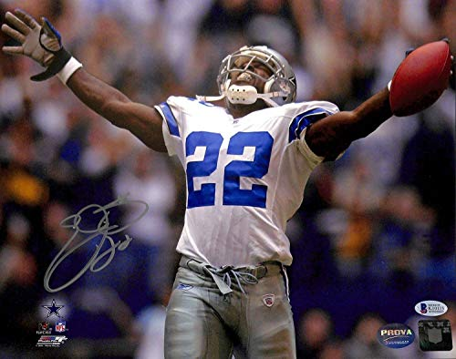 Cowboys Emmitt Smith Authentic Autographed Signed 11x14 Photo Autographed Signed Bas Witnessed