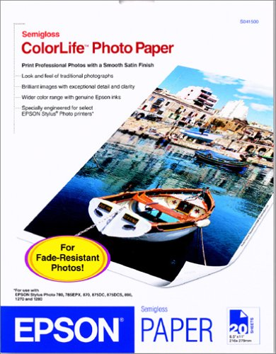 Epson Letter Colorlife Photopaper (20-Sheets)