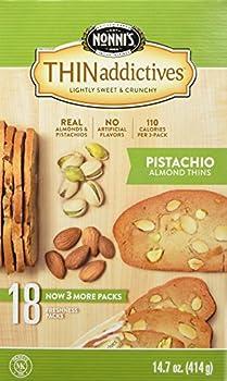 Thin Addictives Pistachio Almond Thins - 14.7 oz - 18 Count