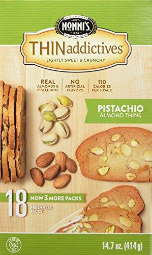 Thinaddictive Almond Thins, Pistachio, 14.7 Ounce
