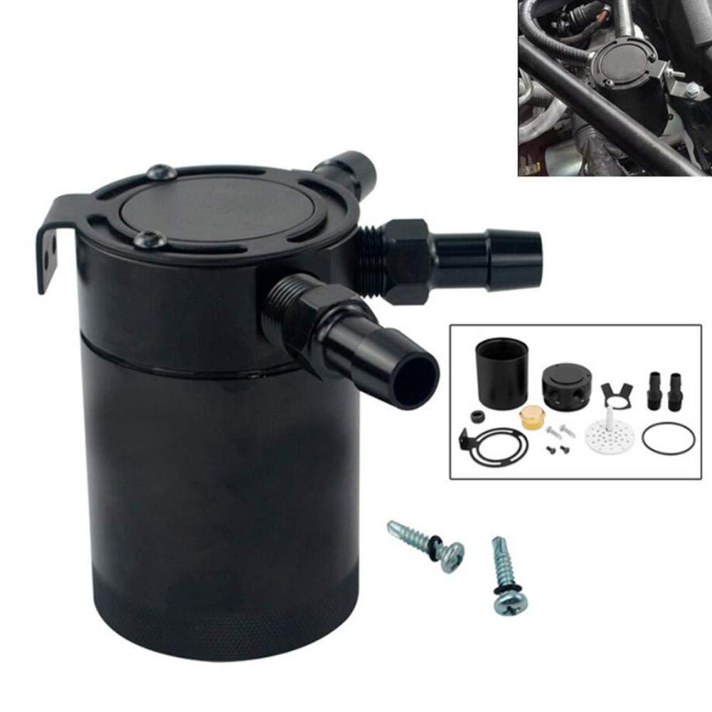 Feng Aceite Catch Tanque Oil Catch Can 3 Puertos Separador de Aire y Aceite