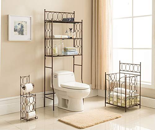 K & B Furniture BM1127 Copper Iron 3 Tier Bathroom Rack