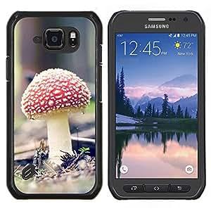 TECHCASE---Cubierta de la caja de protección para la piel dura ** Samsung Galaxy S6 Active G890A ** --Psychedelic Rojo Mushroon