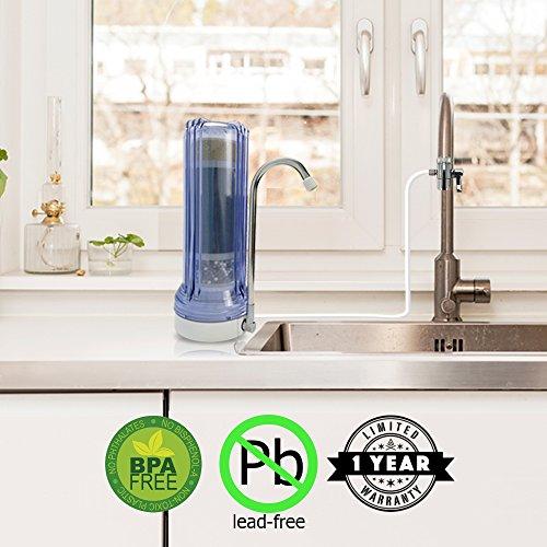 APEX Countertop Drinking Water Filter - Alkaline (Clear)