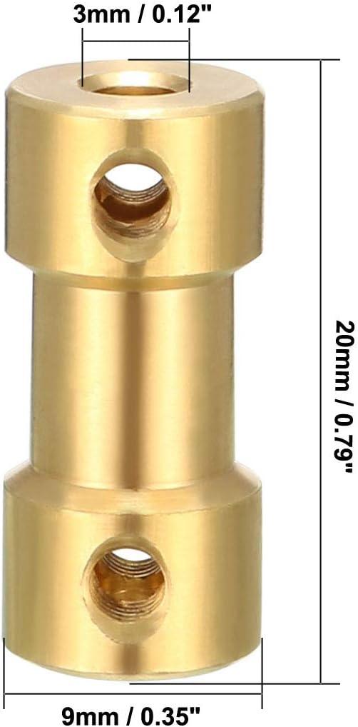 Carte de Source 2/pcs Shaft Coupler 3/mm x 3/mm connecteur adaptateur pour RC Avion Bateau Moteur L20/X D9