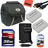 Advanced Accessory Kit for Canon PowerShot G1 X, G15, G16, SX40 HS, SX50 HS, SX60 HS Digital Camera - Includes 2 Pack of NB10L Batteries & Charger + 32GB SD Memory Card+ Deluxe Carrying Case + Mini HDMI-HDMI Cable +More!!