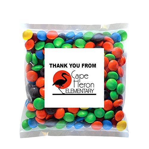 Candy Gift Pack-M&Ms with CUSTOMIZED in Personalized Small Label Pack-BULK Quantities of 250, 500, 1000, 2500 per…