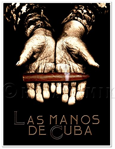 CUBAN CIGAR Vintage ART PRINT Tobacco Photo HAVANA ROLLER'S HANDS - measures 24