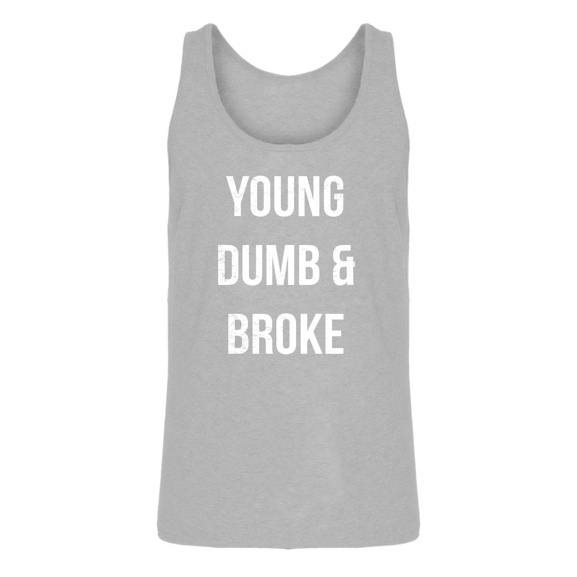 ec8d24d30244cf Amazon.com  Indica Plateau Mens Young Dumb   Broke Jersey Tank Top  Clothing