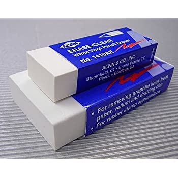 Amazon Com Giant White Vinyl Eraser 3x1 1 2x1 2 Single