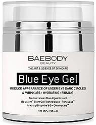 Baebody Blue Eye Gel for Dark Circles & Wrinkles - w Mediterranean Blue Algae Extract - Intensive Eye Gel for Under and Around Eyes - 1 fl oz