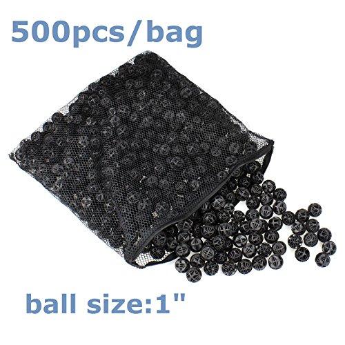AQUANEAT 1'' 500 PCS Bio Balls Aquarium Pond Filter Media Free Media Bag New Design by Aquaneat