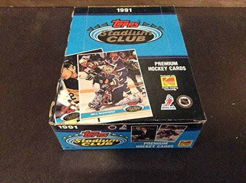 1991 Topps Stadium Club Hockey Unopend Wax Box, Bill Ranford Box, ZQL