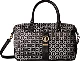 Tommy Hilfiger Women's Evanna Convertible Satchel Black/White One Size