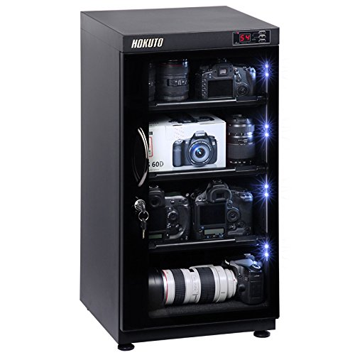102L electronic automatic digital control dry box cabinet(moisture-proof box) storage for DSLR camera lens, Built-in LED light storage easy,Promise 5 Years Warranty;UL certified by HOKUTO