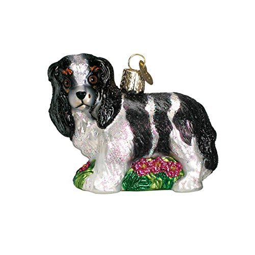 Spaniel Glass Ornament - Old World Christmas Ornaments: King Charles Spaniel Glass Blown Ornaments for Christmas Tree
