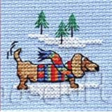 Mouseloft Mini Cross Stitch Kit - Bicycle and Signpost