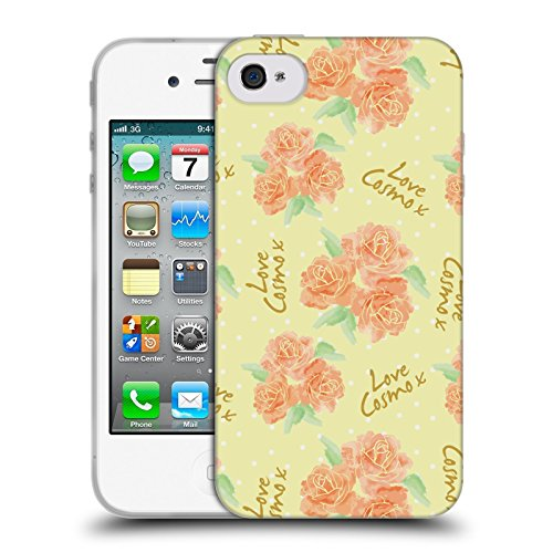 Official Cosmopolitan Roses 2 Love Cosmo Soft Gel Case for Apple iPhone 4 / 4S