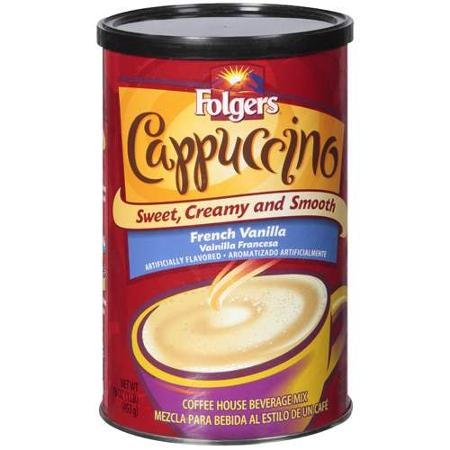 Folgers Cappuccino French Vanilla 16 Oz Pack Of 4