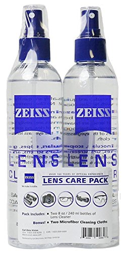 Zeiss Lens Care Pack - 2 - 8 Ounce Bottles of Lens Cleaner, 2 Microfiber Cleaning - Cleaner Sunglasses
