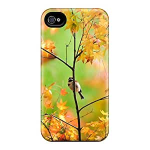 Anti-scratch And Shatterproof Bird On Tree Phone Case For Iphone 4/4s/ High Quality Tpu Case
