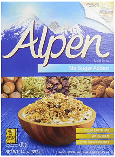 Alpen Muesli Cereal, No Sugar Added, 14 Ounce (Pack of 2)