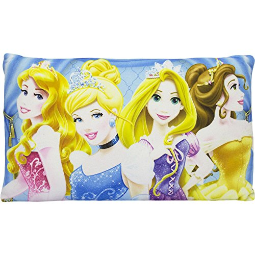 Disney Princess Rectangle Decorative Pillows(14 x 9in.) for Girls (Sky)