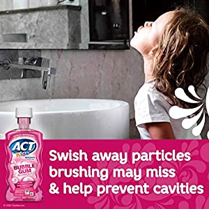 Act Kids Anti-Cavity Fluoride Rinse, Bubblegum Blowout 16.9 Oz