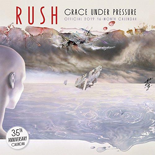 Rush 2019 12 x 12 Inch Monthly Square Wall Calendar, Music Progressive Rock Band