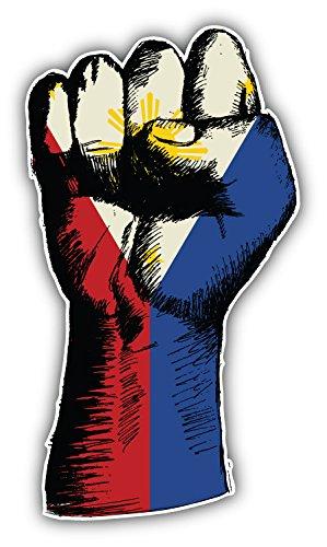 Philippines Hand Flag Sketch Art Decor Bumper Sticker 3
