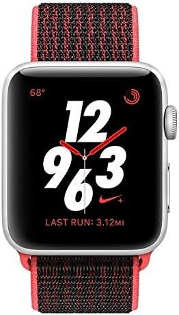 Reconocimiento tramo censura  Apple Watch S3 42mm Nike Silver Crimson/Black GPS+Cellular: Amazon.ca: Cell  Phones & Accessories