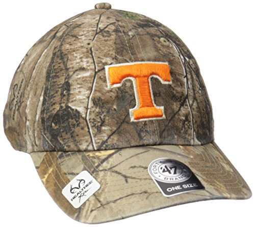 NCAA Tennessee Volunteers Adult '47 Clean Up Realtree Adjustable Hat, One Size, Realtree (Tennessee Volunteers Camo)