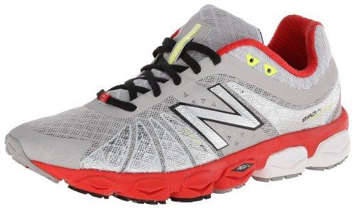 New Balance Men's M890 Running Shoe,Red/Silver,7.5 2E US