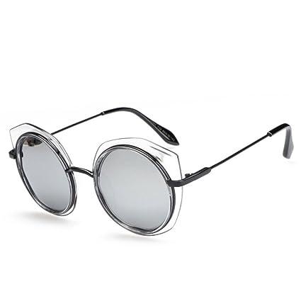 GUOHONG-CX Gafas De Sol De Moda Ronda Metal Casual Irregular Borders Pareja Gafas  De 239d2609367a