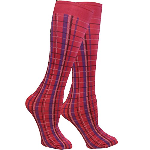 Winners Outer Wear Highland Plaid Knee Socks Red BEyCztxP3L
