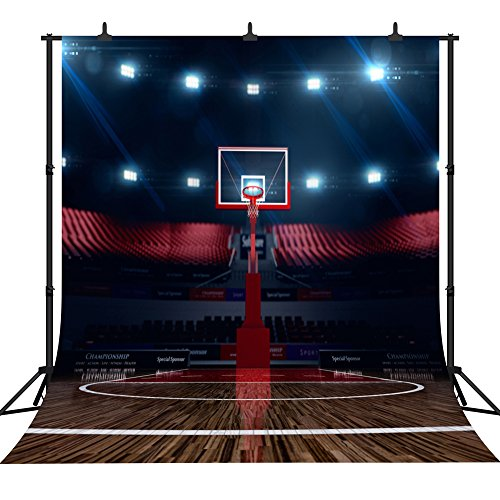 DePhoto 10x10Ft Indoor Basketball Court Newborn Birthday Party