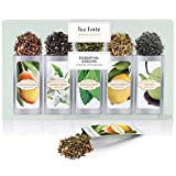 Tea Forté SINGLE STEEPS Essential Greens Loose Leaf Green Tea Sampler, Assorted Variety Tea Box, 15 Single Serve Pouches