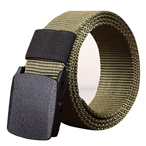 Mens Belt! Charberry Canvas Belt Outdoor Sports Nylon Waistband Canvas Web Belt Dazzling (120, Army Green) from Charberry