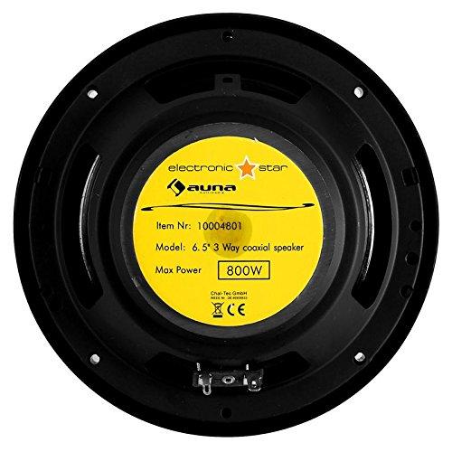 auna 4.1 Car HiFi Set MovieMedia 600 Monoceiver bestehend aus: 4 Lautsprechern, Doppel-Subwoofer, 6 Kanal Endstufe, Kabelage