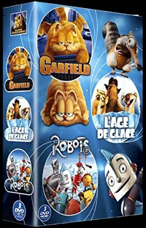 Amazon Com Garfield Le Film L Age De Glace Robots Coffret 3 Dvd Movies Tv