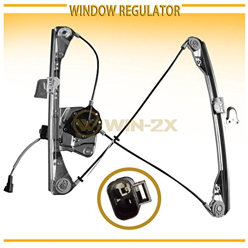 WIN-2X New 1pc Front Passenger (Right) Side Power Window Regulator & Motor Assembly Fit 99-04 Oldsmobile Alero 99-05 Pontiac Grand Am 4-Door Sedan With Electric Window Lifters