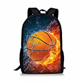FOR U DESIGNS Casual Children School Bags 3D Water Fire Basketball Printing Book Bag