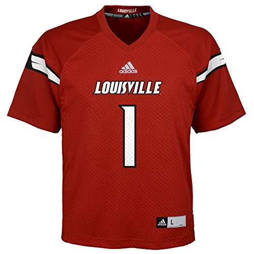 (NCAA Louisville Cardinals Youth Boys Fashion Football Jersey, L(14-16), Red)